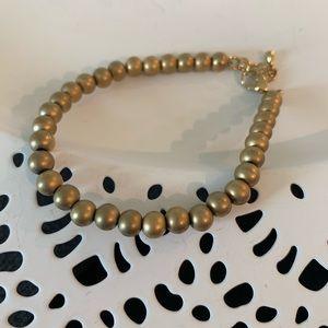 Matte gold beaded bracelet
